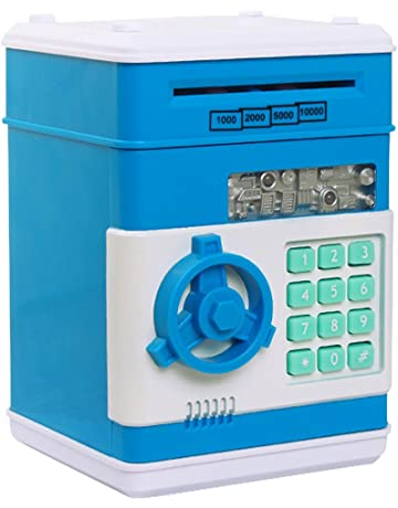 Huchas, Netspower Hucha Dinero Bancos, Electrónica Digital Mini ATM Ahorro de Bancos, Cajas
