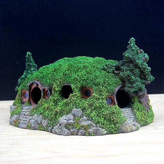 QNMM Adornos de Acuario Casa de Paisaje en Miniatura Ideas de decoración señorial para acuarios Reptil Refugio de Caja de Adorno: Amazon.es: Productos para ...