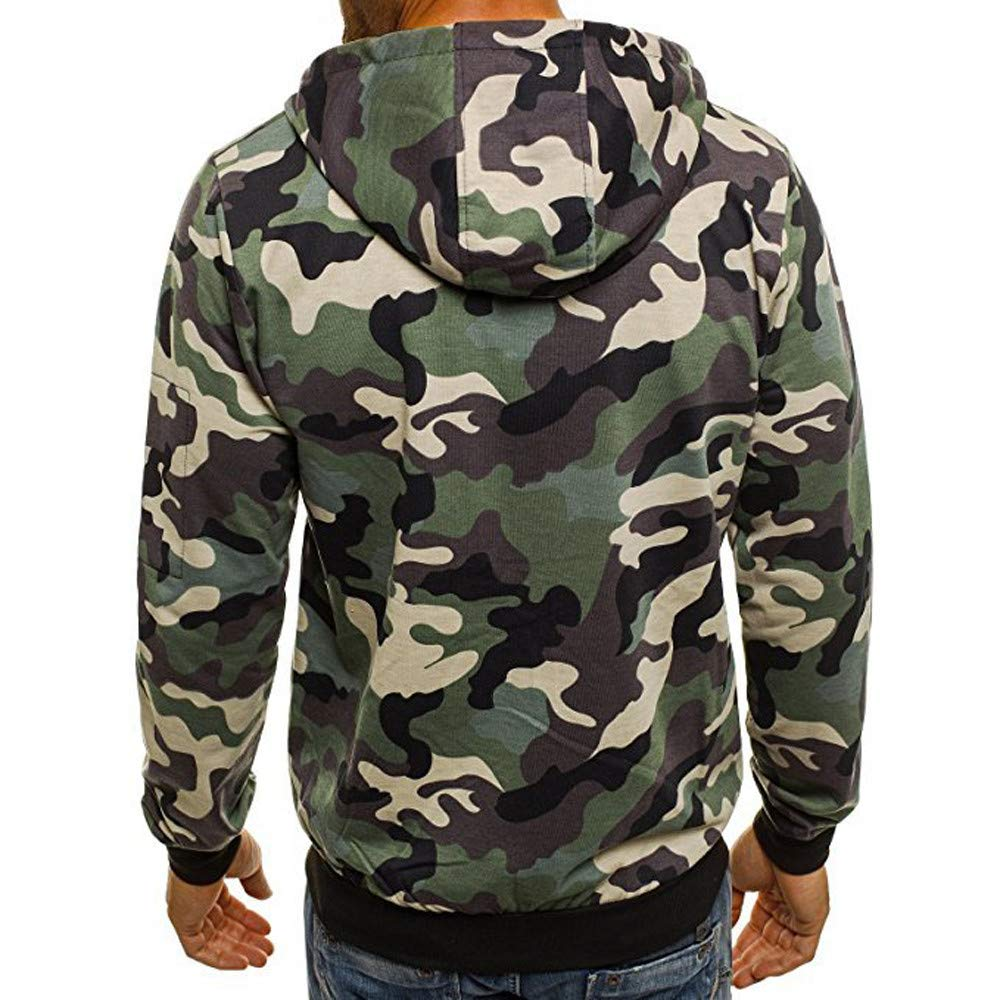 Corriee Fashion Tops for Men 2018 Cool Camouflage Zip Hooded Sweatshirts Mens Autumn Pullover Casual Go Out Hoodies by Corriee Men Hoodies (Image #2)