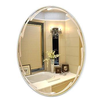 Amazoncom Mirrors Wall Mounted Frameless Bathroom Wall Hanging