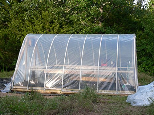 Agfabric 3.9Mil Plastic Covering Clear Polyethylene Greenhouse Film UV Resistant for Grow Tunnel and Garden Hoop, Plant Cover&Frost Blanket for Season Extension, 6.5x32ft by Agfabric (Image #4)