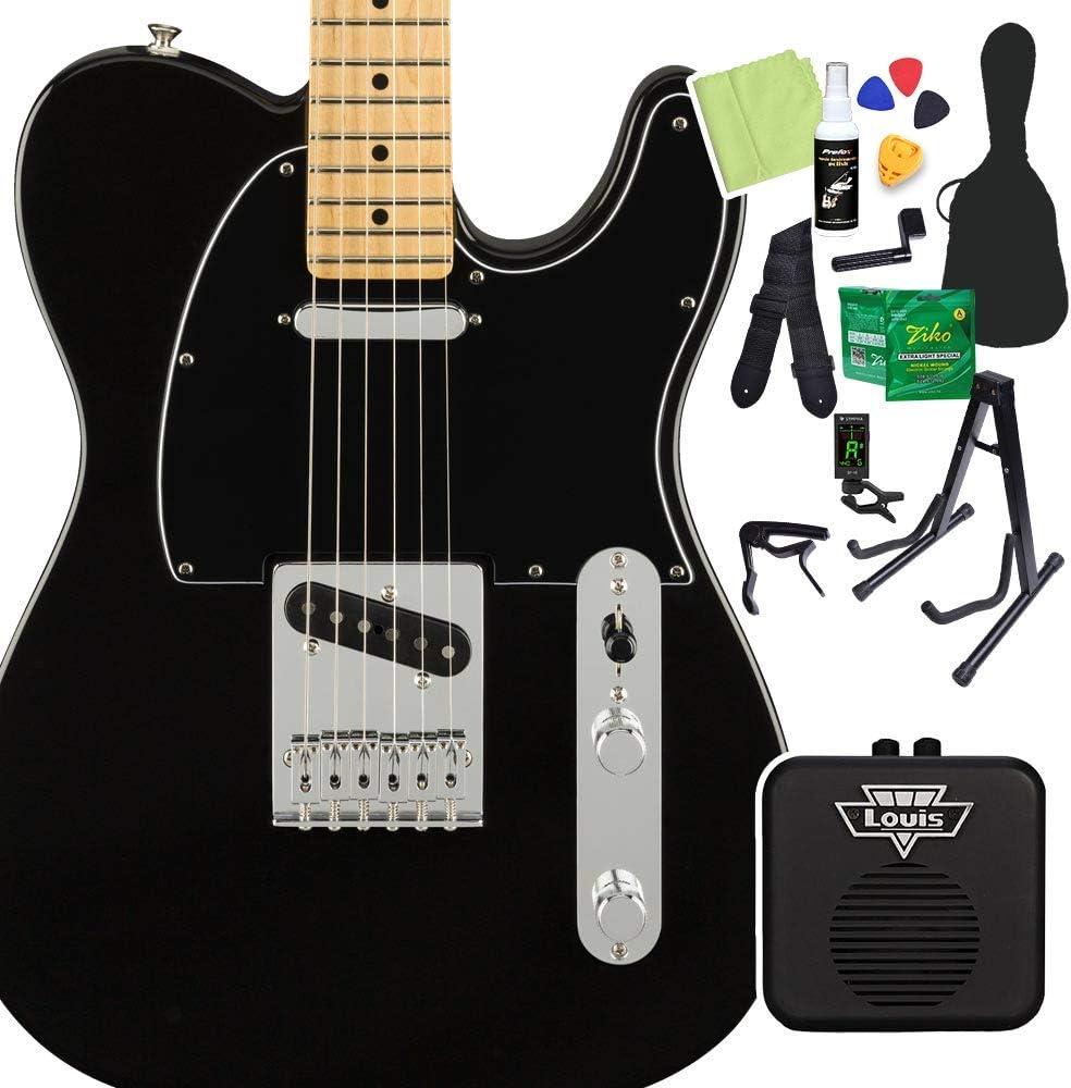 Fender Player Telecaster Maple Fingerboard Black 初心者14点セット 【ミニアンプ付き】 テレキャスター フェンダー