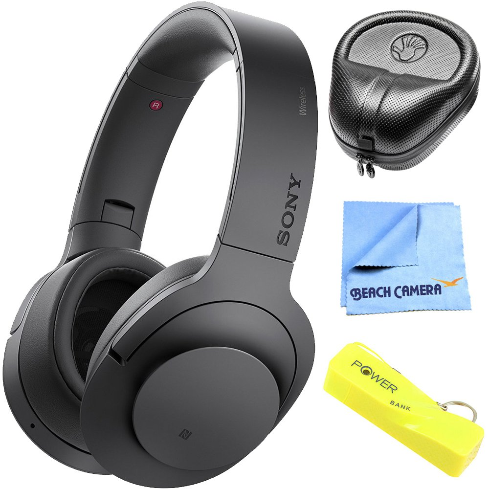 Sony H.ear on MDR100ABN B wireless noise cancelling headphone, charcoal black International Version
