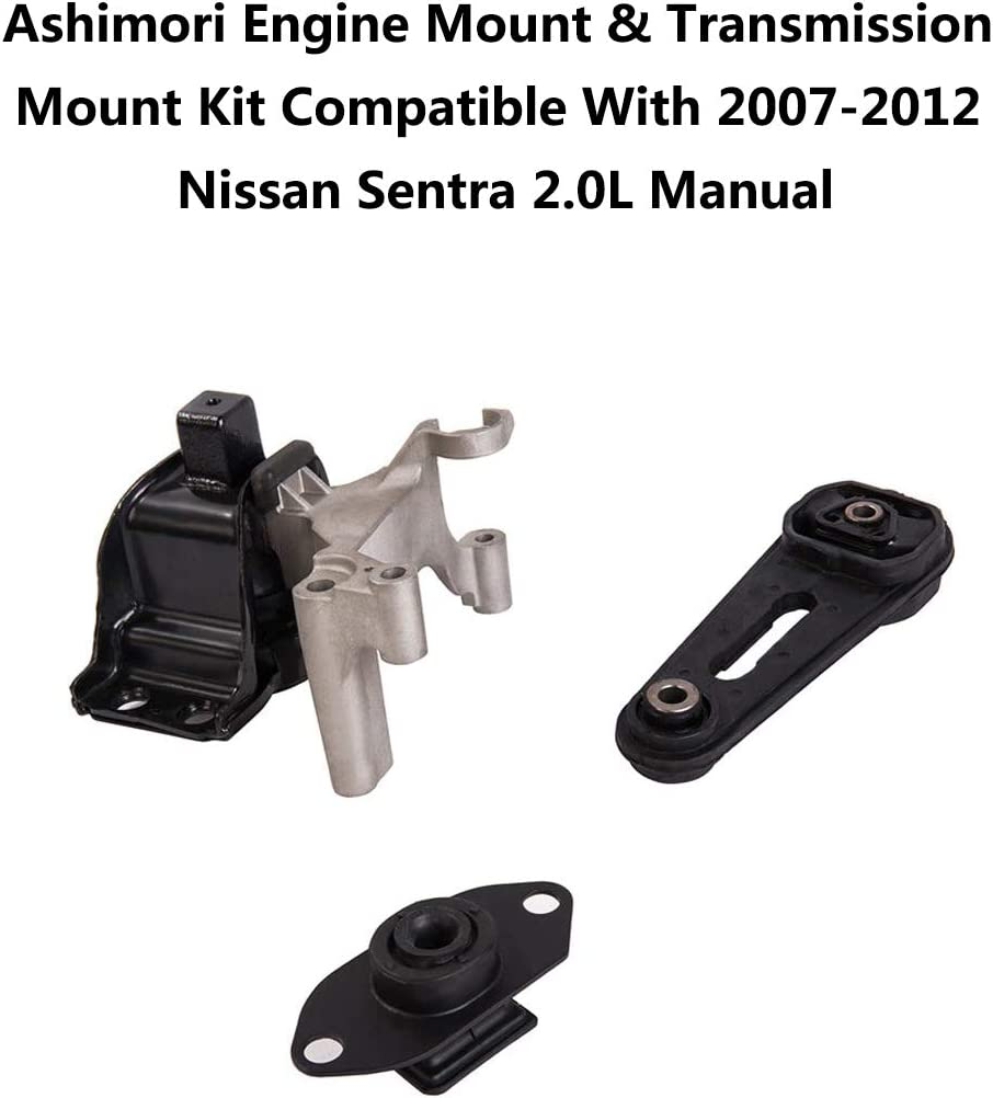 w// Bracket for 07-12 Nissan Sentra 2.5L for Manual. Engine /& Trans Mount 4PCS