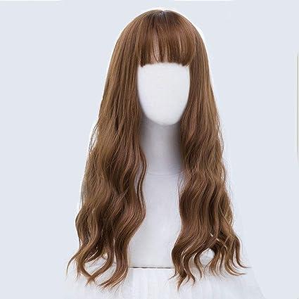 LRZLZY Simulación de moda peluca femenina ondulación de agua pelo ...
