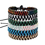 Jeka Handmade Braided Woven Friendship Bracelets Fashion 6Pcs Bulk for Men Women Wrist Ankle