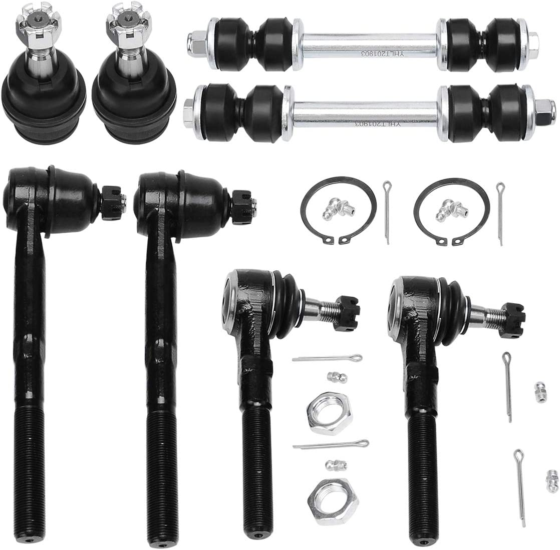 10pcs Front Upper Control Arm Kit for 1997-2004 Ford F-250 F-150 Heritage Expedition 1998-2002 Lincoln Blackwood Navigator
