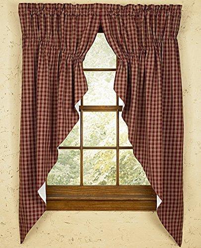 Sturbridge Park Designs 72x 63 Wine Prairie Curtains by Park Designs by Park Designs