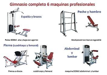 Grupo Contact Gimnasio completo (6 maquinas profesionales): Amazon.es: Deportes y aire libre