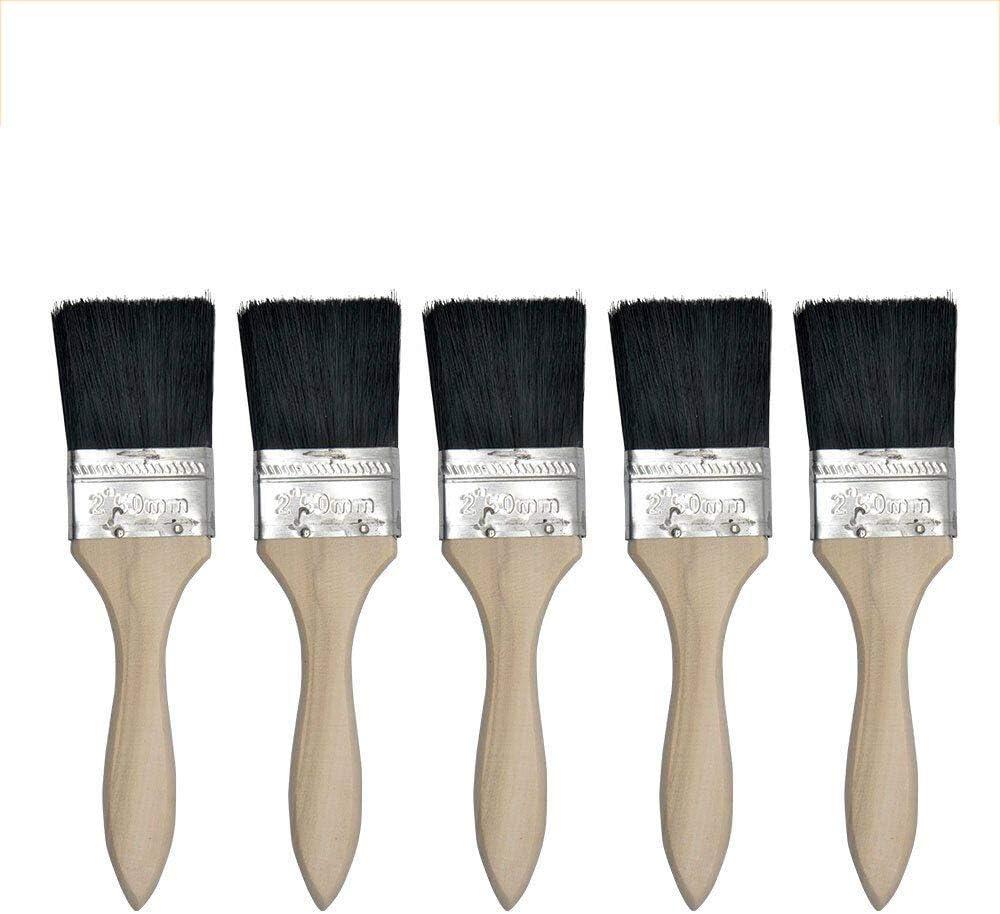 2,5 cm//3,8 cm//5,1 cm braun 5 St/ück BE-Tool Malerpinsel-Set Einweg-Pinsel f/ür pr/äzises Schneiden in allen Arten von Pinseln