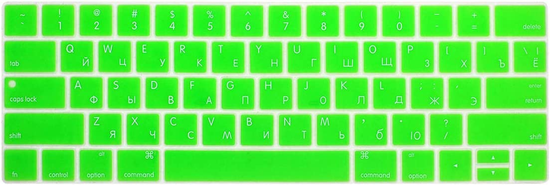 Russian Keyboard Cover forMac Book 13 15 Inch with Touch Bar A1706 A1707 A1989 1990 Laptop Keyboard Covers Color Keyboard Film,Red