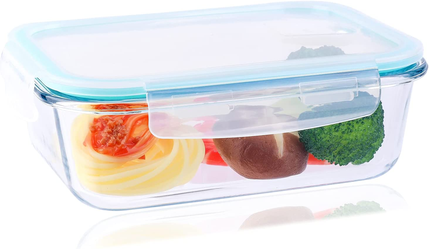 23OZ Glass Lunch Containers, Glass Storage Containers with Lids, Glass Meal Prep Containers Reusable for Office Workers Prepare Meals and Snacks