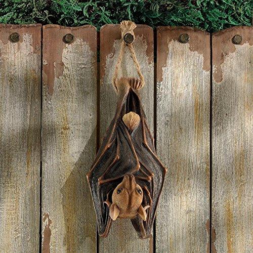 Design Toscano Vampire Bat - Hanging Mega Bat Sculpture - Bat Figure - Halloween Bats
