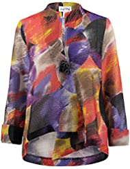 Joseph Ribkoff Multicoloured Knit Button Closure Coverup Jacket Style 171596
