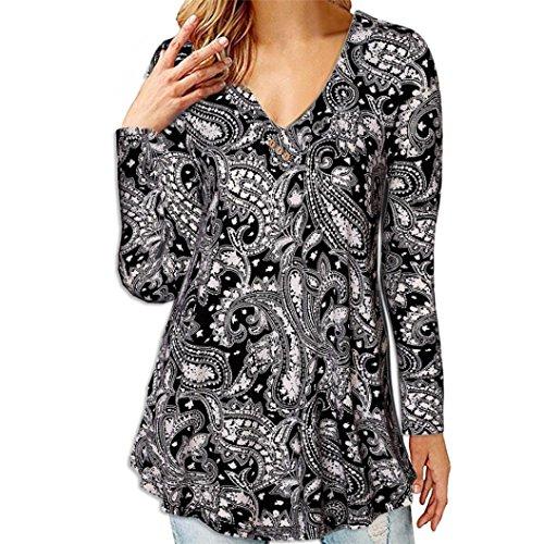 ABCone-Donna Pullover Felpa Breve Office Work Wear V-Collo T-Shirt Maniche Lunghe Elegante Autunno Camicette Camicie Casual Tops Nero