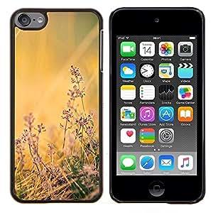 Flores de campo- Metal de aluminio y de plástico duro Caja del teléfono - Negro - iPod Touch 6