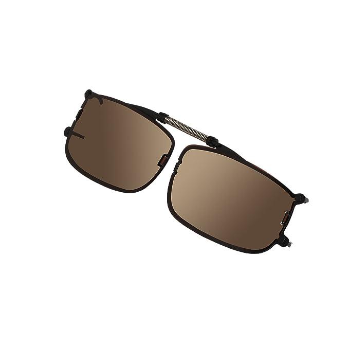 LianSan - Gafas de sol polarizadas con lentes clip 002 negro (Brown small)