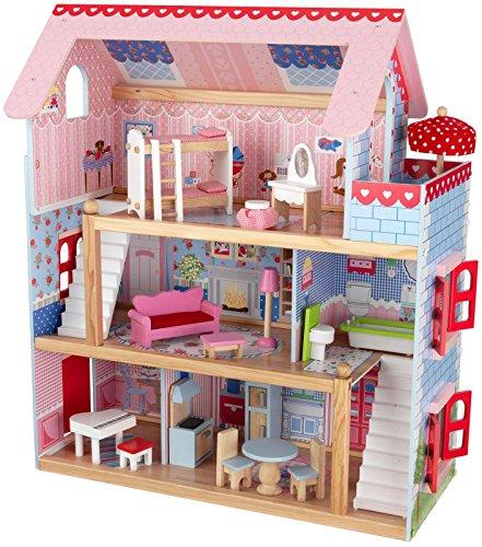 KidKraft Chelsea Doll Cottage with Furni…