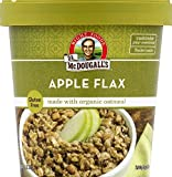 Dr. McDougall's Right Foods Non-Dairy Hot Cereal, Organic Apple Cinnamon, Oatmeal & Wheat, 2.3-Ounce Cups