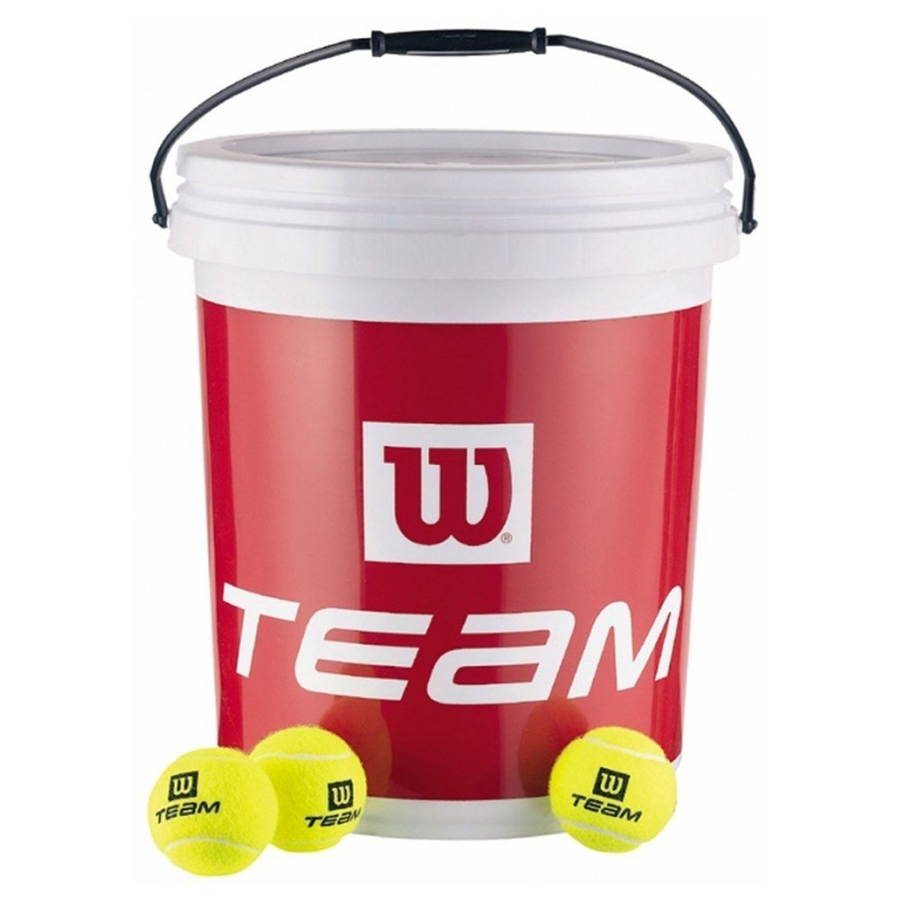 187 TNS BALL BUCKET + LID 09 Wilson Tennisball-Eimer Kunststoff gelb X4380