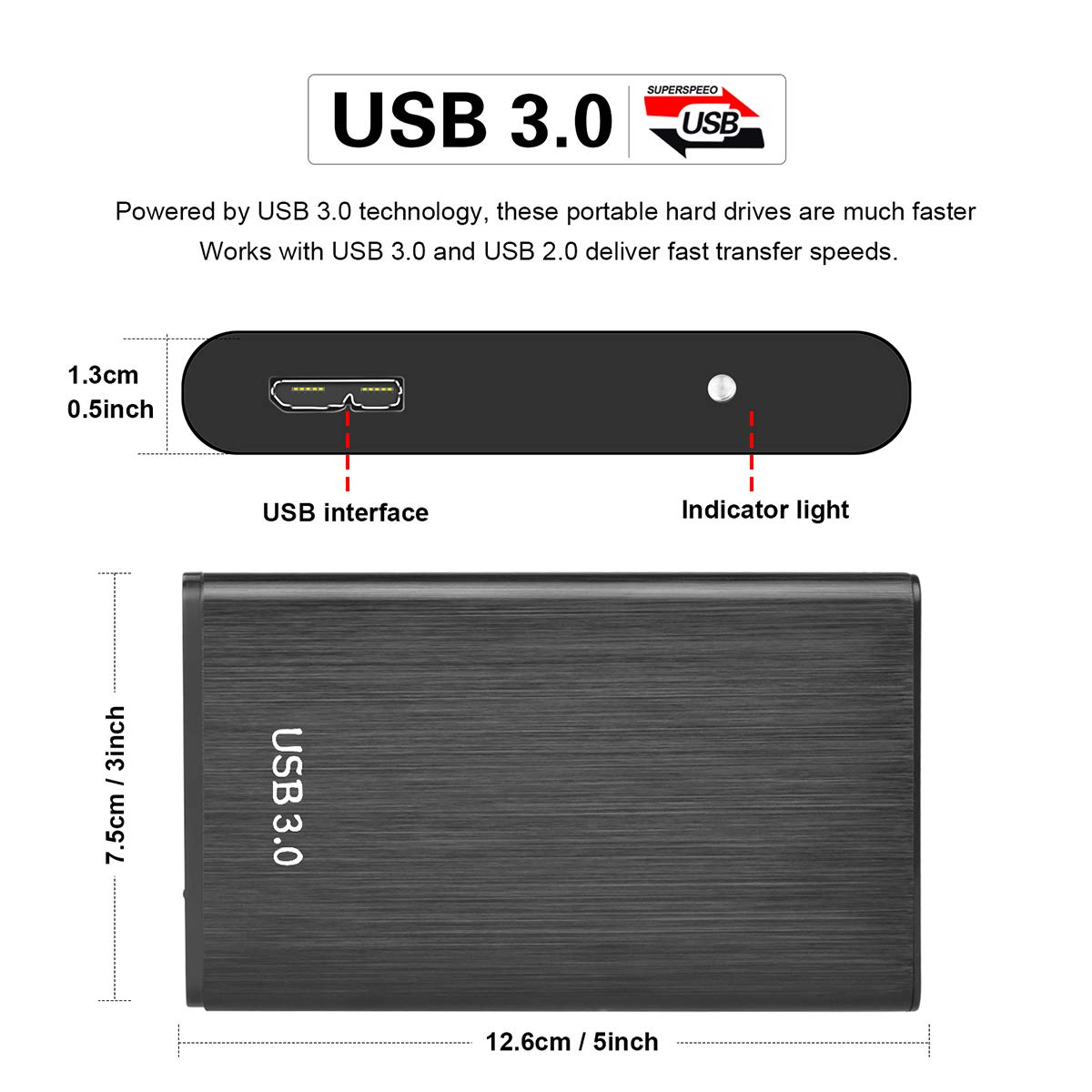 Xbox One 1TB 2TB Expansion USB 3.0 Port/átil 2.5 Disco Duro Externo para PC