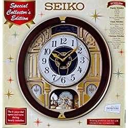 Brand New Seiko Melodies in Motion Wall Clock 2014 Special Collectors Edition QXM541BRH