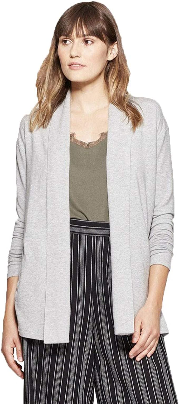 A New Day Women's Open Knit Cardigan (Gray Heather