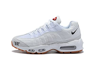 83ebc49c1f 95MaxRnew Off White X Air Max 95 White Gum Mens Womens Running Shoes ...
