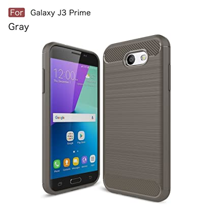 Funda Samsung J3 Prime, OUJD [Rugged Armor] Shock-absorption Suave TPU Fundas para Carcasa Galaxy J3 Prime, Protección Robusta Armadura Fibra de ...