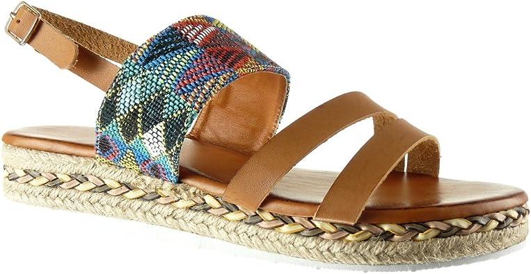 Angkorly Chaussure Mode Sandale Mule Plateforme lanière