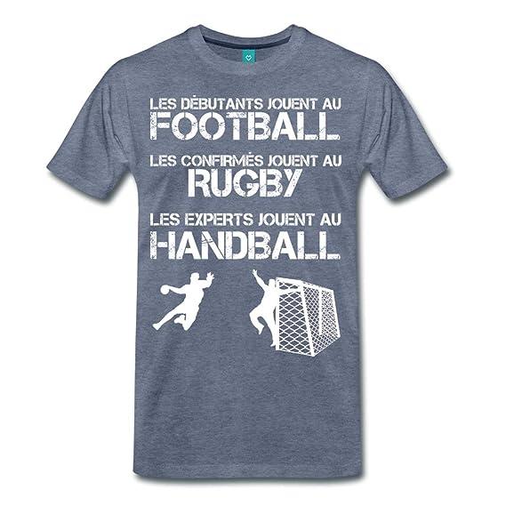Spreadshirt Les Experts Jouent Au Handball T-Shirt Premium Homme   Amazon.fr  Vêtements et accessoires 8648f70ca01f