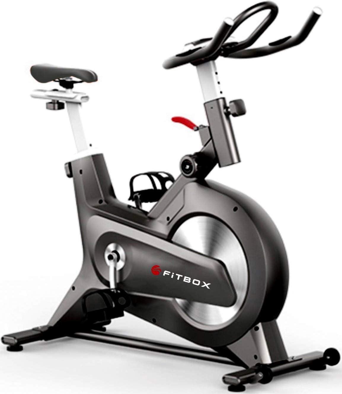 FiTBOX 第3世代フィットネスバイク スピンバイク ダイエット器具 メーカー1年保証 組み立て簡単 静穏 トレーニング トレーニングバイク