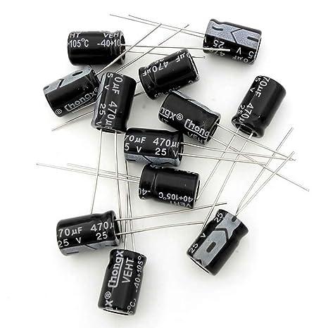 470uf 25V electrolytic capacitor 470U Aluminium radial 20/% 105 deg Pack of 25