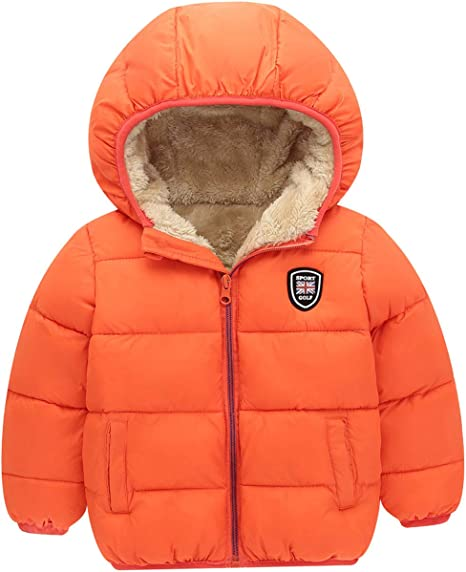 Mornyray Boys Thick Fleece Parka Jacket Coat Hooded Winter Outwear