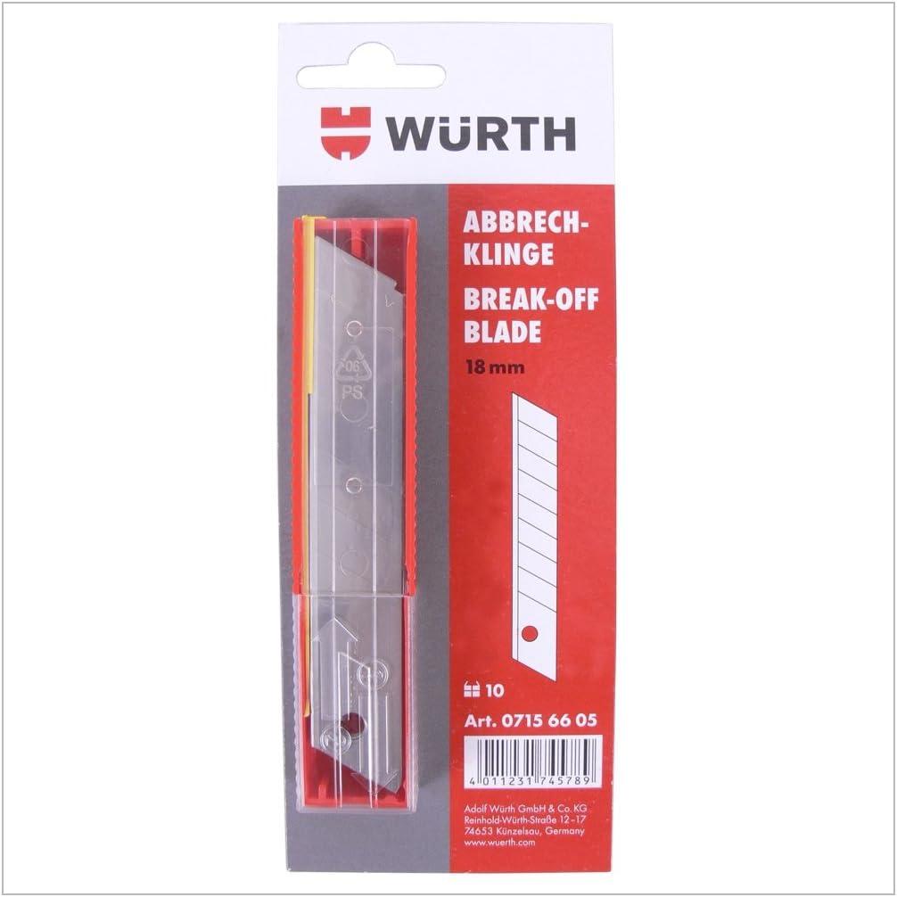 Würth (07156605) - Cuchilla de recambio precortada (10 unidades ...