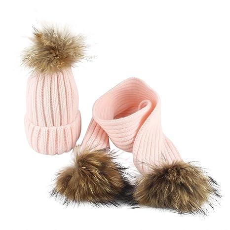 Topgrowth Cappello Bambina Cappelli Sciarpa Inverno Neonato Sciarpa A Maglia  Unisex Bambini Berretto in Maglia con 1e24929c60a6