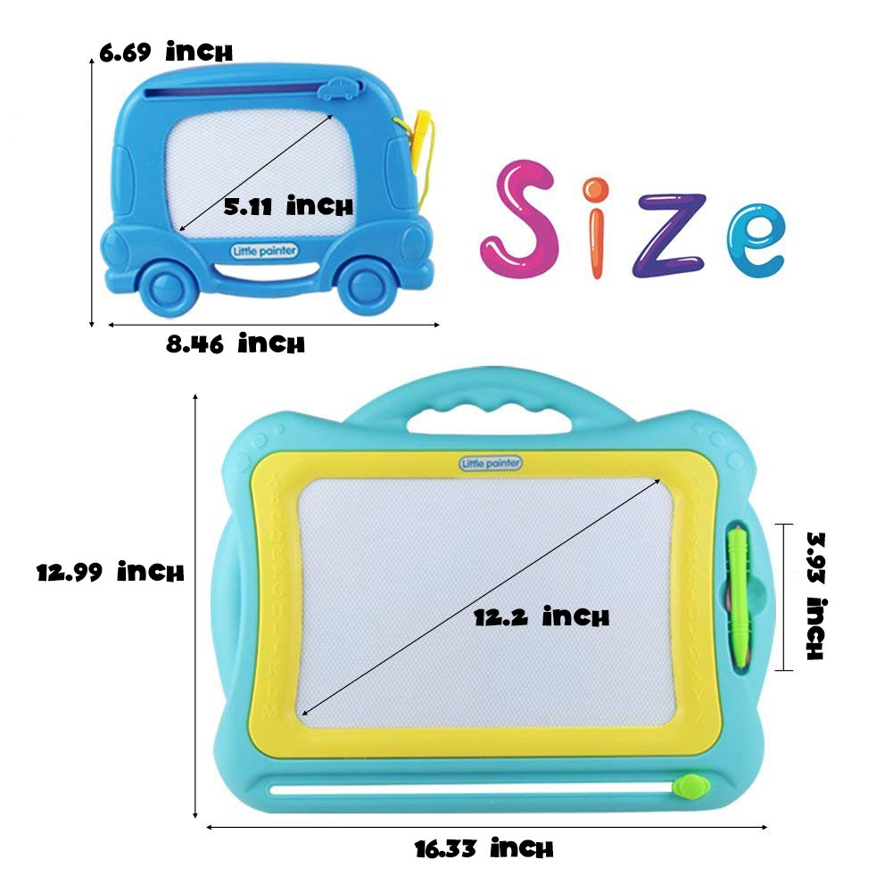 Fajiabao Magnetic Drawing Doodle Board Sketching with Muti-functions Learning, Writing and Painting, Portable in Travelling for Children Toddlers Kids Little Boys Little Girls - 2 in 1 Assembling Set