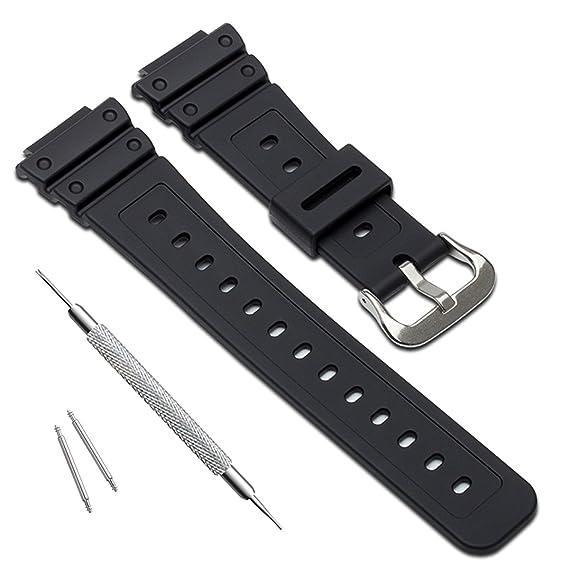 2433ecff79d1 Naturale poli uretano Watch Band strap di ricambio per Casio uomo G-Shock DW -