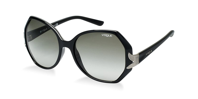 15085269e6f9 Vogue sunglasses VO 2773 S W44 11 Acetate plastic Black - Silver Grey  Gradient  Amazon.co.uk  Clothing