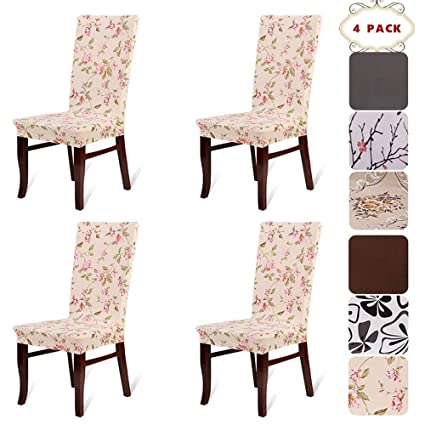 Etonnant BEKVÄMTLife Stretch Dining Room Chair Covers Floral Chair Seat Protector  Washable Chair Slipcovers For Parsons Chair