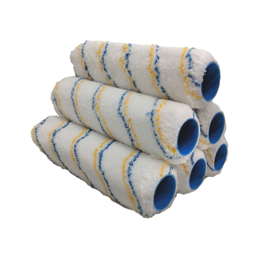 True Blue Professional Paint Roller Covers, Best for All Types of Paint (6, 9'' x 1/2'')