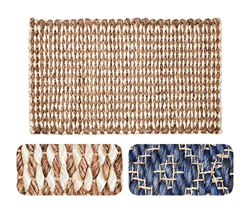 Doormat Handwoven Strongest Natural Fiber Abaca Decorative Durable Reversible Easy Clean Washable ECO-Friendly Non-Toxic Sustainable Long-Lasting Elegant Handmade (18