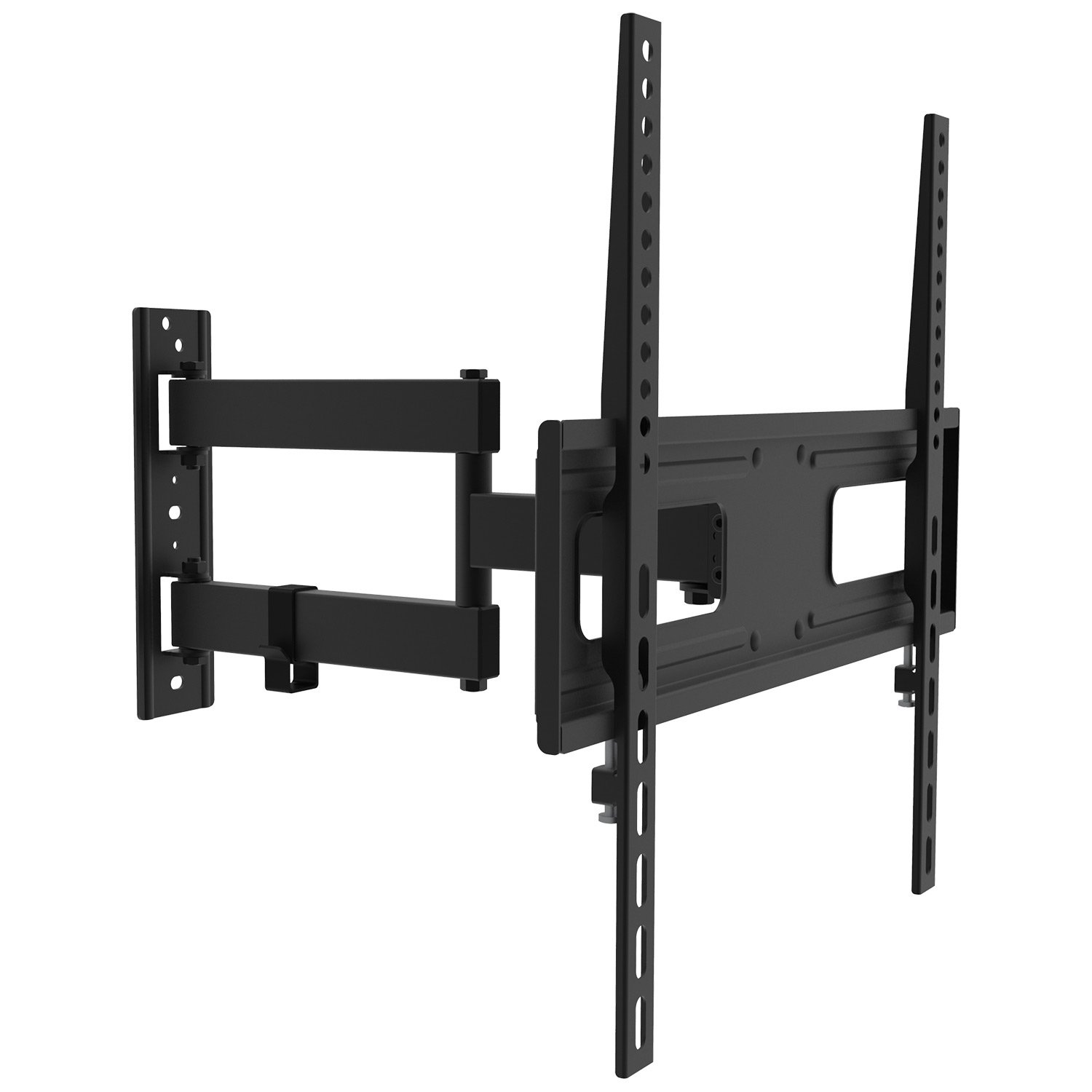 Swivel TV Wall Mount Bracket for 26-55 inch LED, LCD Curved / Flat Panel TVs up to VESA 400X400 - Full Motion Articulating Arm Fits Single Wall Wood Studs by PrimeCables (Heavy Duty, Sturdy, Universal Design) Cab-ZLA09-443