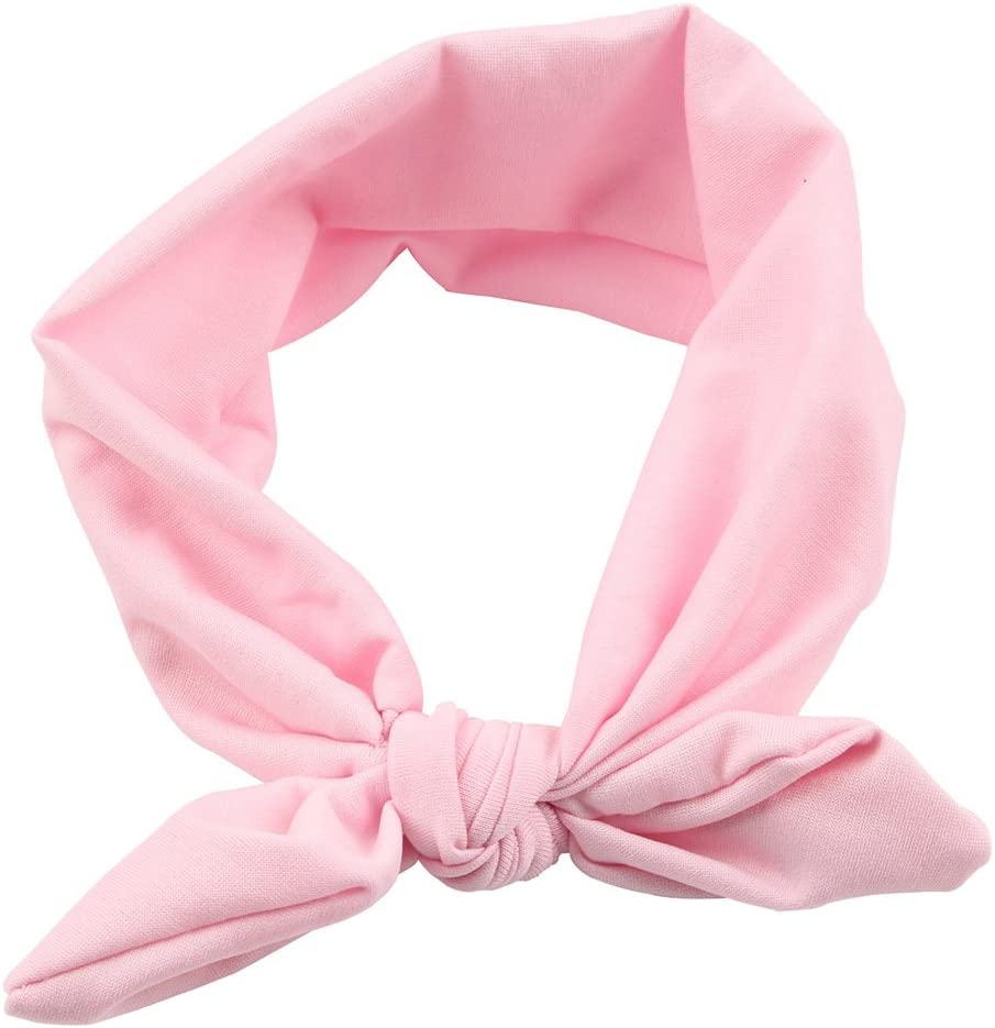 Baby Headbands Newborn Girl Hairbands Messy Bow Head Wraps Knot Turban Toddlers 10C