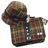 Mucros Clodagh Hat and Fiona Bag Set (Brown Plaid)