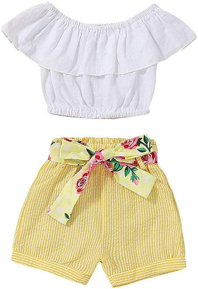 Toddler Baby Girl Cute Carton Dog Ruffles Dress and White Shorts Clothing Set