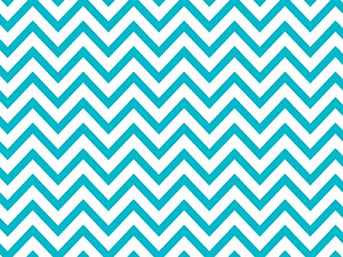 Design Printed Tissue Paper for Gift Wrapping 24 Decorative Sheets 20'' X 30'' (Turquoise Chevron) by GBBD