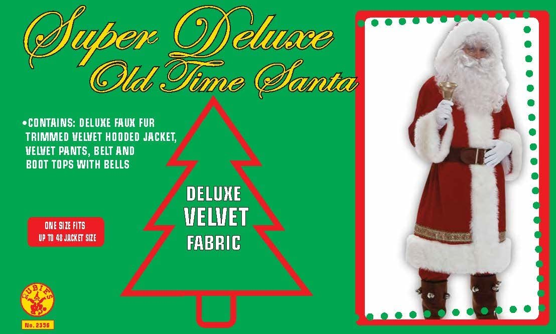 Old Time Santa With Hood Super Deluxe Adult Costume STD