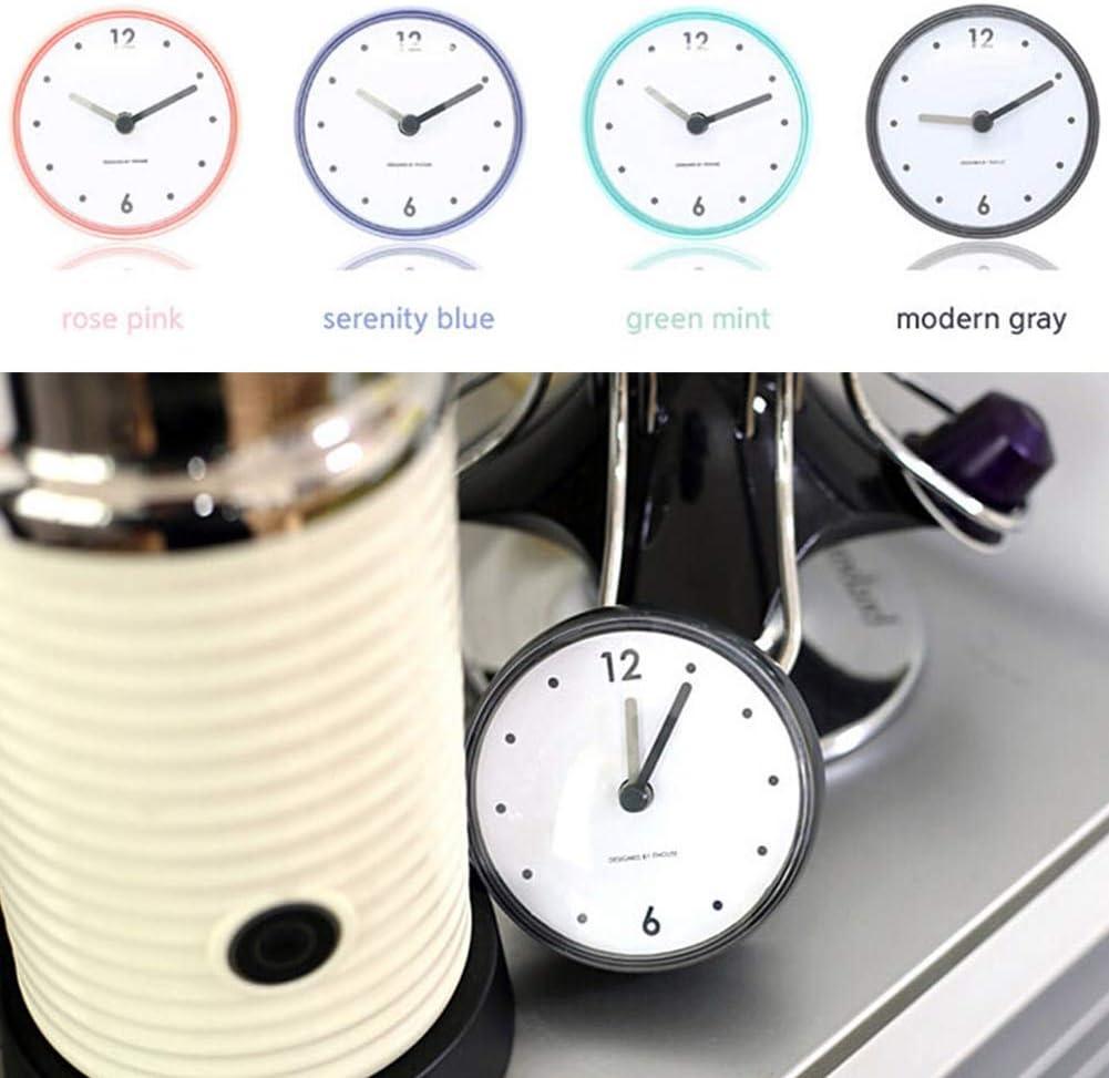 Alivier Salle de Bain /étanche Cuisine Horloge Ventouse Horloge Murale d/écor Douche minuterie d/écor Minuscule Toilette