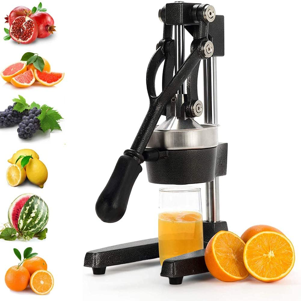 XYWN Manual Fruit Juicer Orange Squeezer Commercial Grade Citrus Juicer for Orange Lemon Pomegranate for Restaurant Home